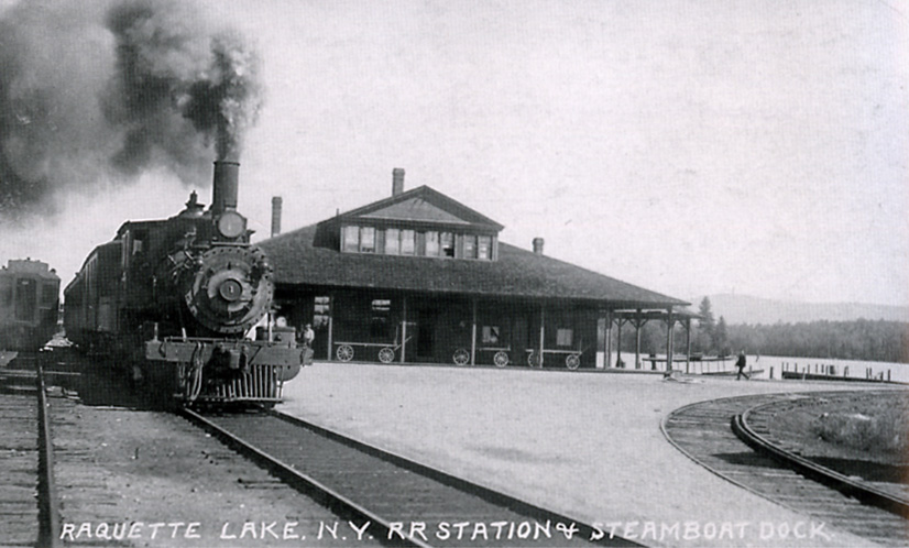 1914 Railroad Station & Steamboat Dock Raquette Lake, NY