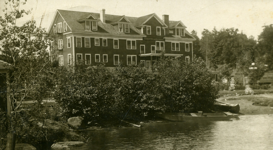 c1910 Raquette Lake House from the lake