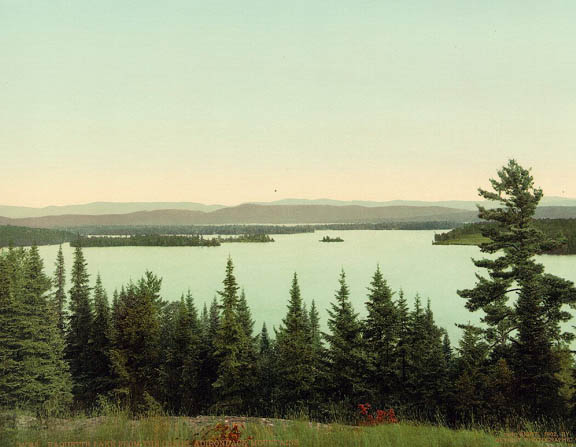 Jackson Raquette Lake from the Crags 1902