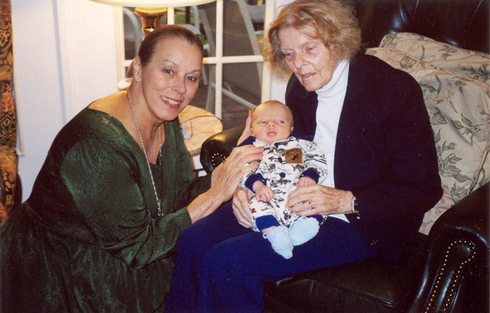 2000 Paul's youngest Maxwell with his two grandmothers Martha & Jean